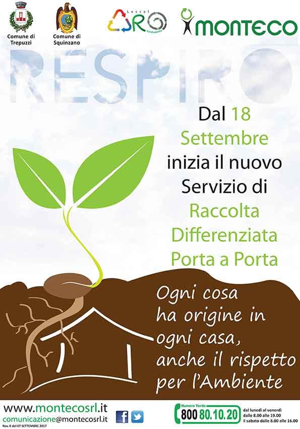 18 Settembre: al via con il Nuovo Servizio di Raccolta Differenziata Porta a Porta a Squinzano e a Trepuzzi